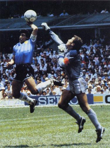 Diego Maradona's 'Hand of God' move was slammed in the 1986 FIFA World Cup.