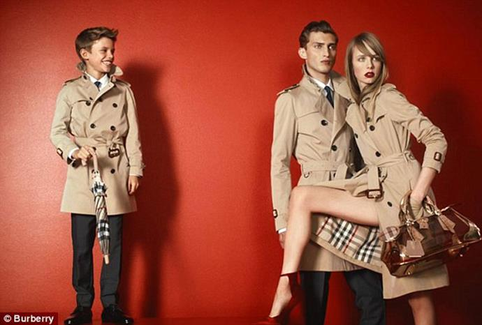Romeo Beckham for Burberry.