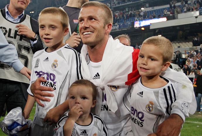 The Beckham boys in 2007.