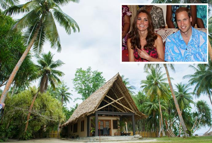The secluded bungalow where William and Kate spent a night.