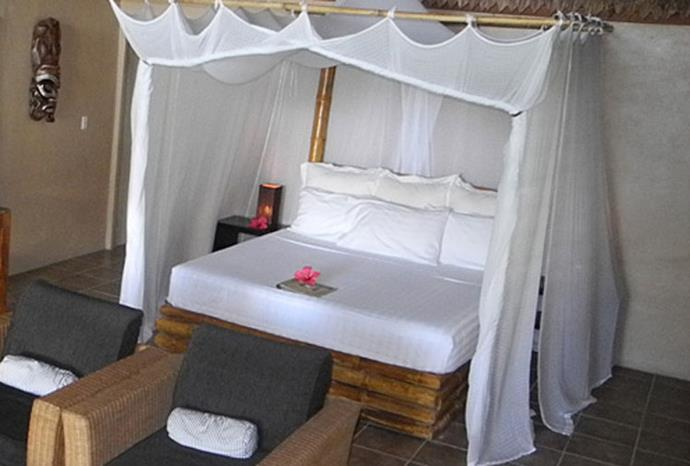 Inside one of the rooms at Tavanipupu Island Resort.