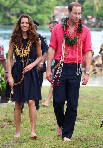William and Kate on their way to the resort in September.