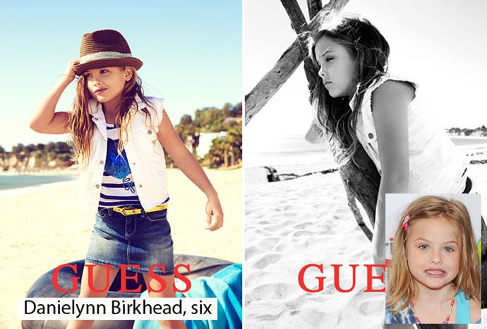 Anna Nicole Smith's daughter Danielynn, six, for Guess.