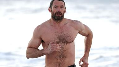 Hugh Jackman's amazing beach body