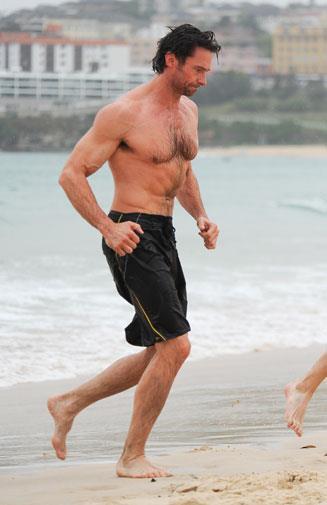 Hugh at Bondi Beach in November 2008.