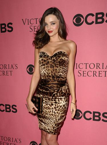 Miranda looking lovely in leopard in November 2011.