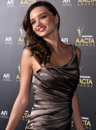 Miranda at the AACTA awards in January 2012.