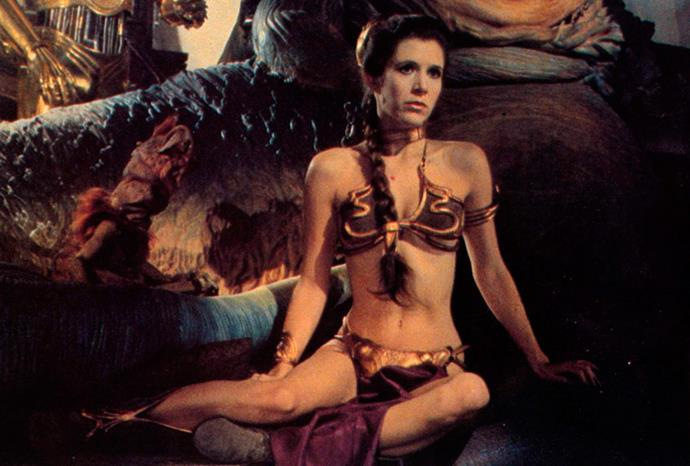 Carrie Fisher as Princess Leia in *Return Of The Jedi*