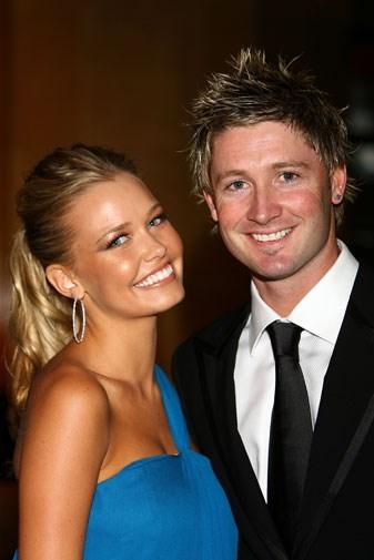 Michael with his former fiance Lara Bingle in 2007.