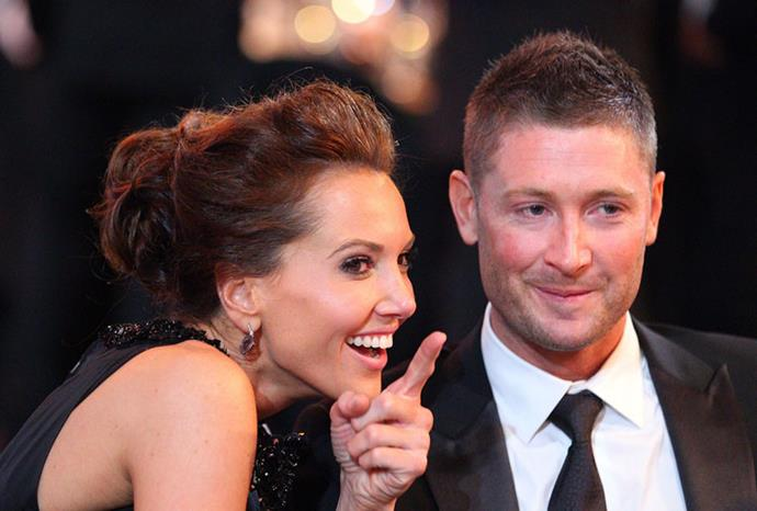 Michael with his now-wife Kyly Boldy in February 2012.