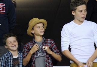 Crus, Romeo and Brooklyn Beckham