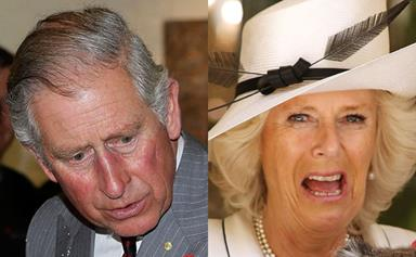 The funny faces of Charles and Camilla