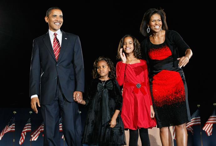 The Obamas in November 2008.