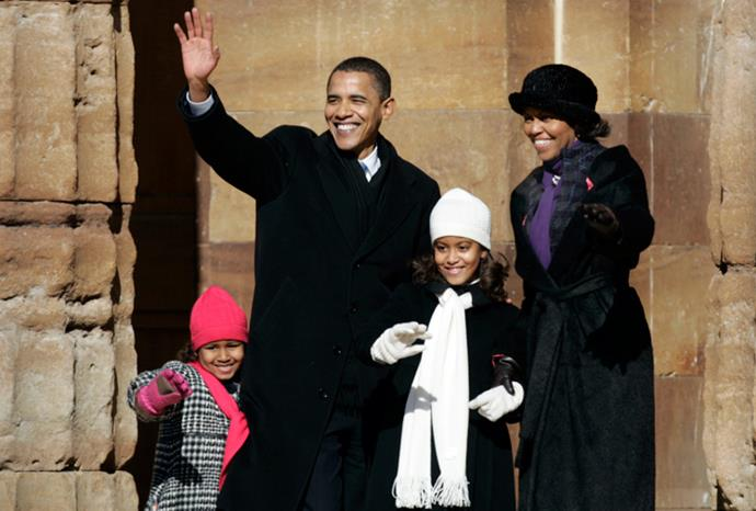 The Obamas in February 2007.