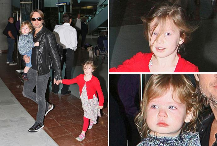 Keith, Sunday and Faith arrive at Nice airport yesterday.