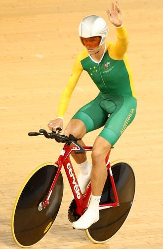 Michael Gallagher got the gold in the men's individual pursuit.