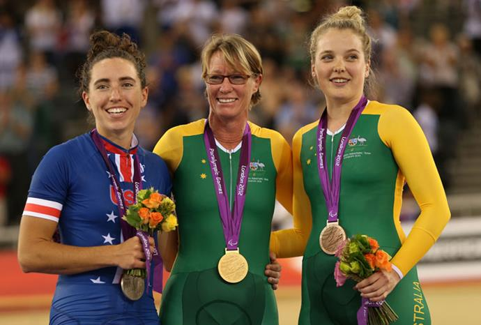 Susan Powell set a world record and picked up Australia's first gold medal on day one.