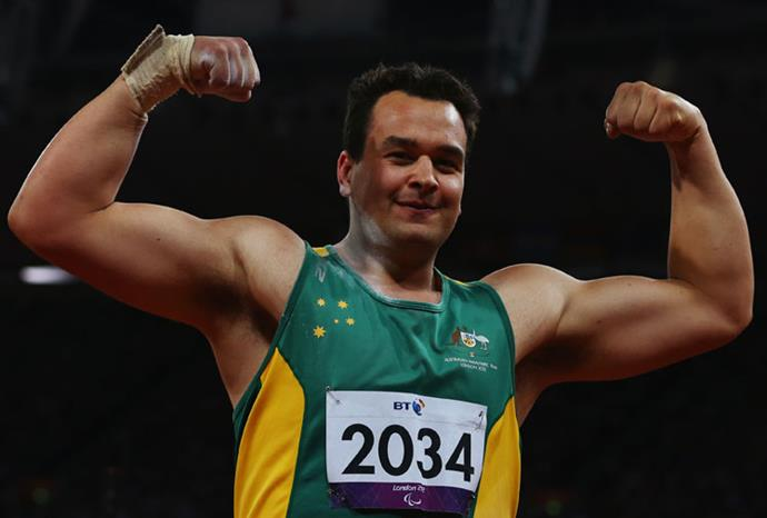 Tasmanian Todd Hodgetts won gold in shot put, throwing a new world record.