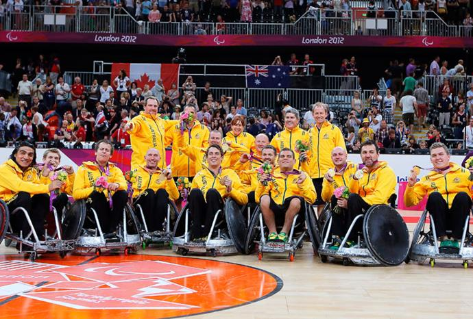 Our wheelchair rugby team won Australia's first ever gold in the sport.