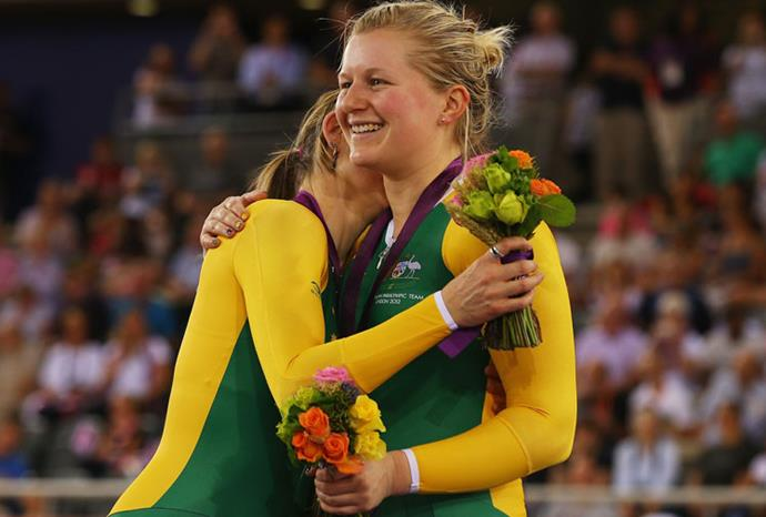 Felicity Johnson and Stephanie Morton took gold in the tandem pursuit.
