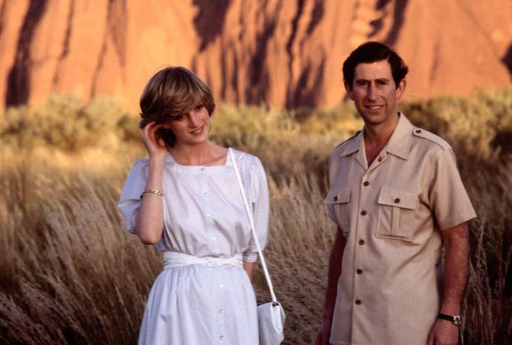 Charles and Diana at Uluru.