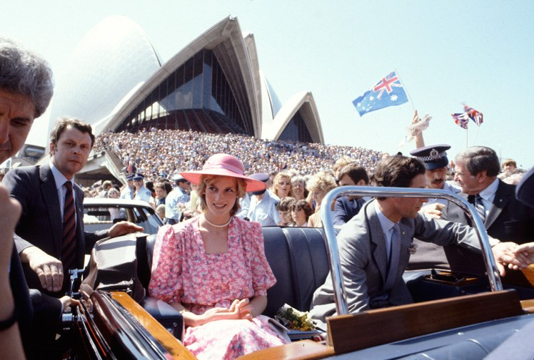 Diana and Charles visit Sydney Harbour in 1983.