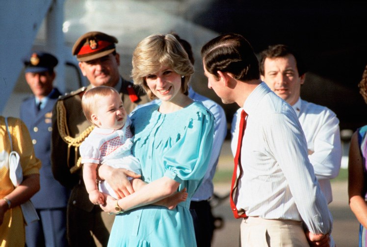 With baby Prince William in 1983.