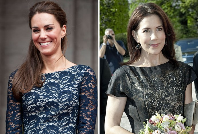 Lacy ladies: Kate in June and Mary in 2009.