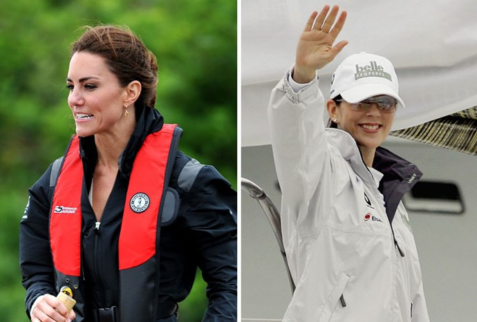 Boating beauties: Kate in June and Mary in 2005.