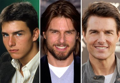The changing face of Tom Cruise