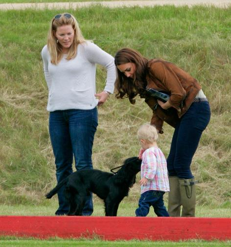 Catherine and Lupo with Savannah and her mother Autumn Phillips.