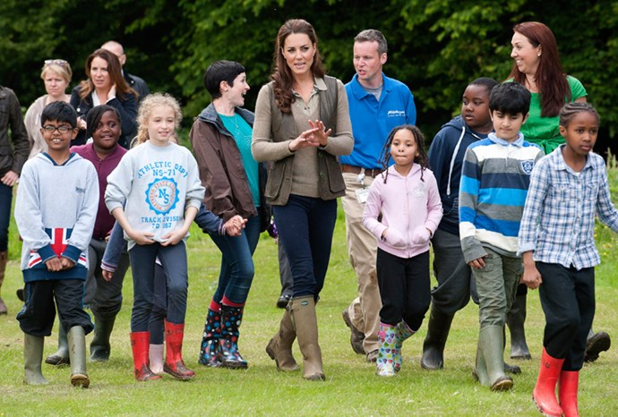 """Catherine said she is """"very well looked after"""" by the royal family."""