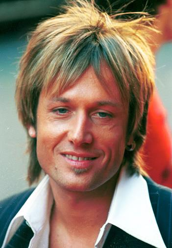 Keith had an interesting haircut in 2001.