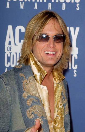 The rocker at the Country Music Awards in 2002.