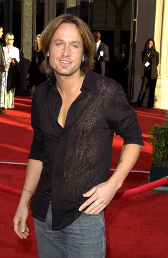 Keith chose a sheer shirt to walk the red carpet in 2003.