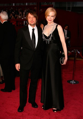 Keith and Nicole at the Oscars in 2008.