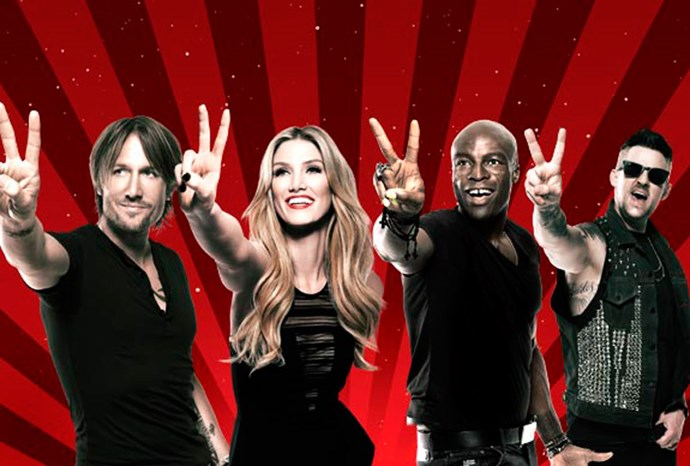 Judges Keith Urban, Delta Goodrem, Seal and Joel Madden.