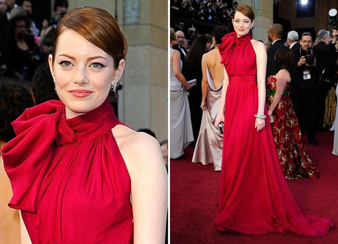 Emma Stone in Giambattista Valli Haute Couture.