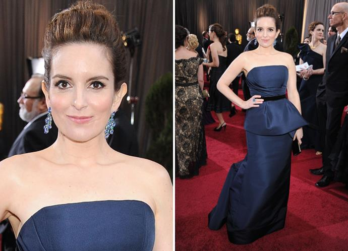 Tina Fey in Carolina Herrera.
