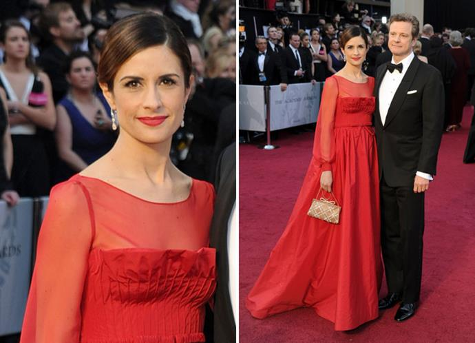 Colin Firth and Livia Giuggioli in Valentino.