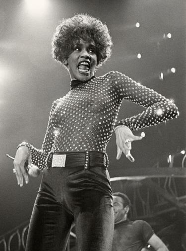 Glory days: Whitney in concert in 1991.