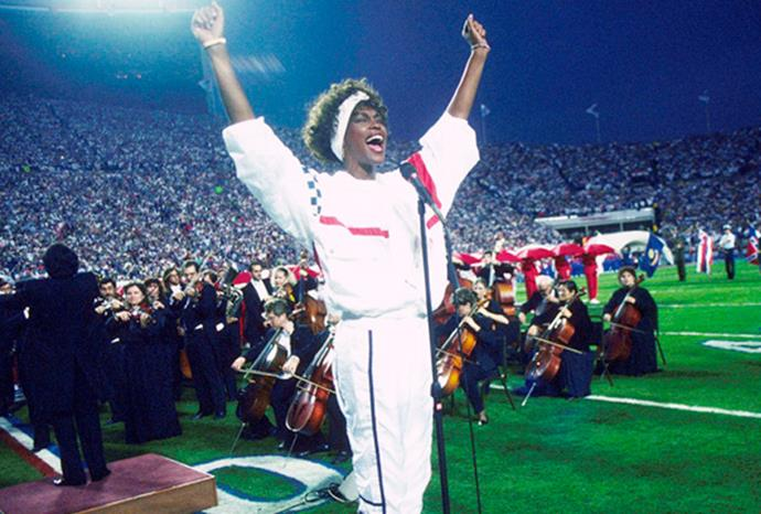 Whitney's rendition of 'The Star Spangled Banner' at the 1991 superbowl was an instant classic.