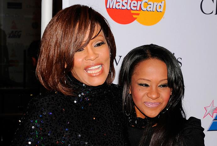 Whitney with Bobbi Kristina shortly after she was released from rehab in 2011.