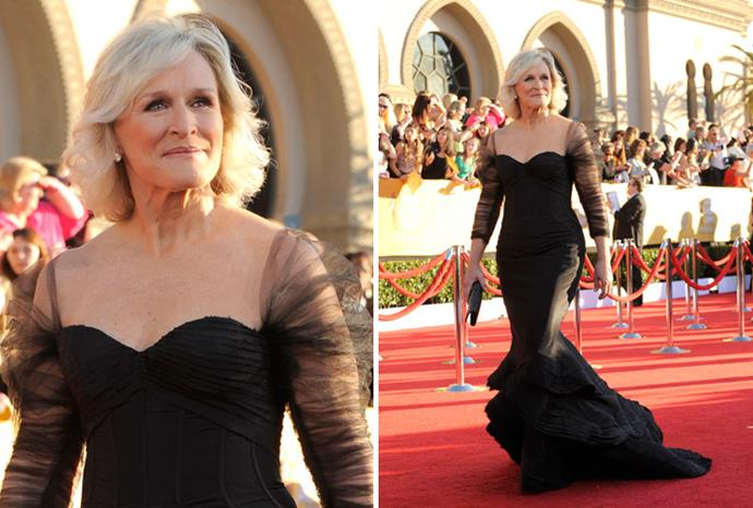 *Albert Nobbs* star Glenn Close in Zac Posen.