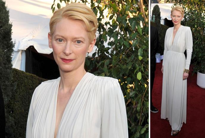*We Need to Talk About Kevin* star Tilda Swinton in Lanvin.