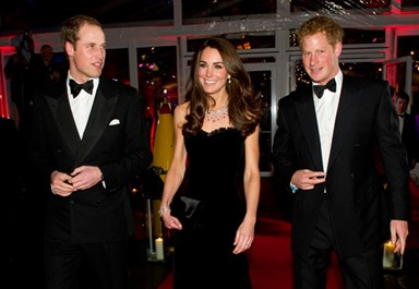 William, Kate and Harry dress to impress