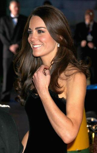 Kate looked stunning in black velvet.