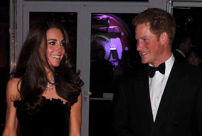 Kate and Harry share a laugh on the red carpet.