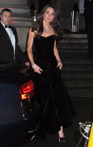Kate's dress was by Alexander McQueen, which made her wedding gown.
