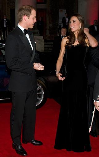 The Duke and Duchess of Cambridge exchange a loving look.